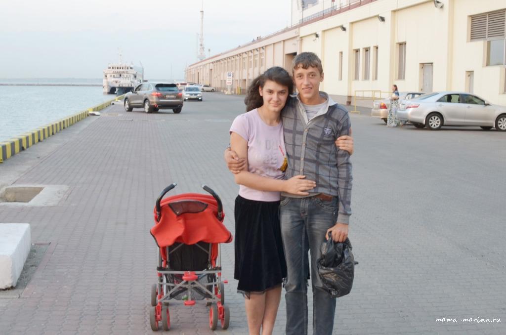 Алексей и Елена в морском порту