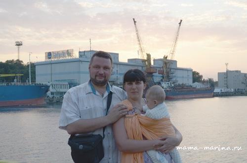 Папа, мама, Тёма в морском порту copy