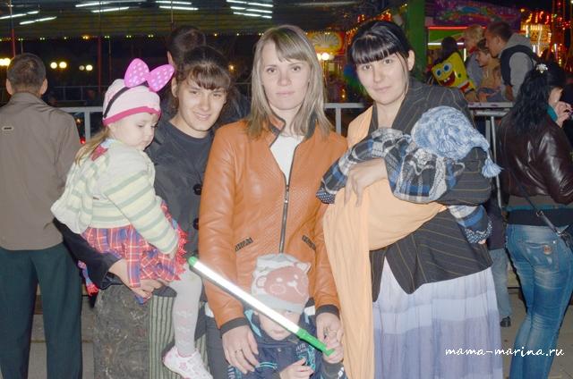 я, Лена, Настя, Тема с кумой Дианой и моим крестником Богданом