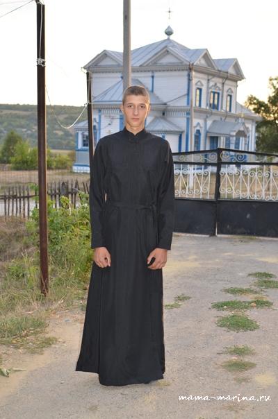 В подряснике - семинарской униформе, август 2015