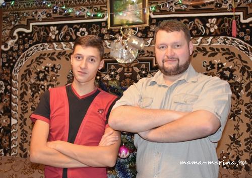 Наш семинарист Алексей с отцом настоятелем :-)