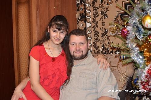 Ещё раз Лена с папой))
